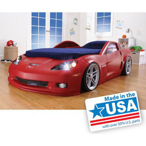 Corvette Convertible Toddler to Twin Bed with Lights 821500(