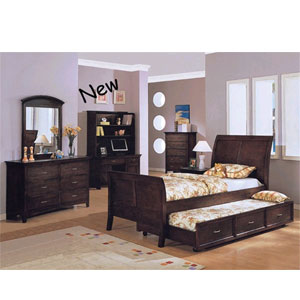 Calais Cove Wenge Finish Bedroom Set 8342/8345 (A)