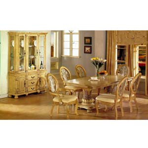 Exceptional 7 Piece Coronado Antique White Dinette Set 8664 (A)