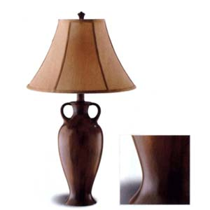 Brushed Burgandy Lamp 900247 (CO)