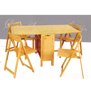 Attirant 5 Pcs Folding Table And Chairs 901_(LNFS110)