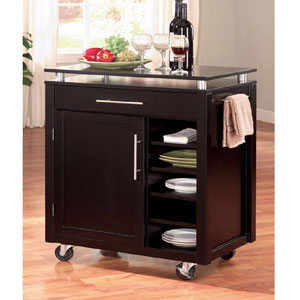 Kitchen Cart in Black 910012(CO)