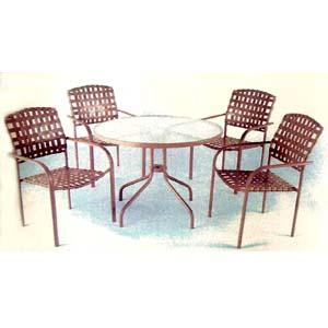 4-Piece Steel/PVC Strap Table Set 91102 (LB)