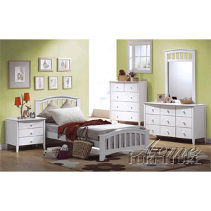 San Marino Bedroom Set in White Finish 9150/9139 (A)