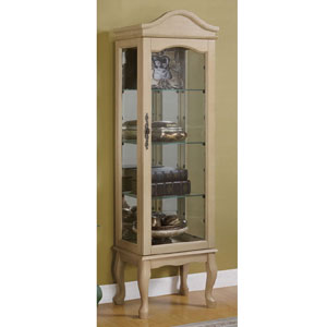 antique white curio cabinet Curio Cabinets: Oak Or Antique White Curio Cabi95019_ CO  antique white curio cabinet