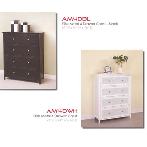 Metal 4 Drawer Chest AM4D_(WE)