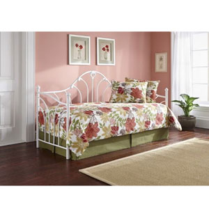 Day Beds Taryn 30 Inch Daybed Antique White B50452 Fb