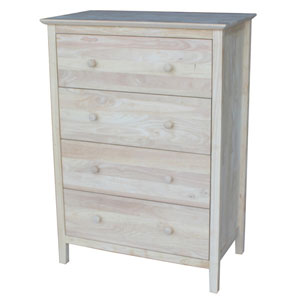 Solid Wood Shaker Style 4 Drawer Chest (WFFS)