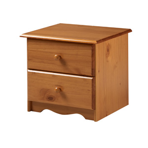 Solid Wood 2 Drawer Nightstand 474_(PI)