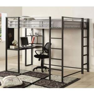 full size loft bed sherman full size woorkstation loft bed cm bk1098f iem. Black Bedroom Furniture Sets. Home Design Ideas