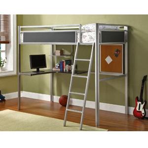 Alexa Twin Size Loft Bed Workstation CM-BK1135(IEM)