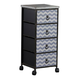 Chevron Wheel 4 Drawer Chest CST22530 (WFFS)
