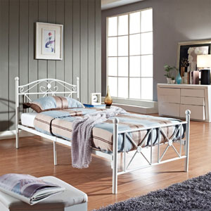 LexMod Country Cottage Iron Twin Bed Frame EEI-799(AZFS)