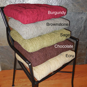 Elegance Chenille Non-slip Chair Pads (Set of 4) ELEG(OFS)