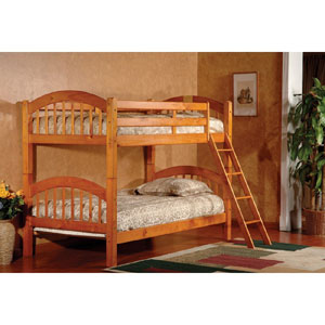 Arched Twin Over Twin Bunk Bed F082(KBFS)