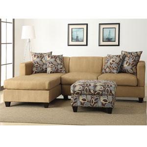 Microfiber Sectional Sofa - Khaki F7184(PX)