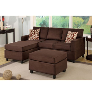 3-Pc Sectional Sofa - Chocolate F7661 (PX)