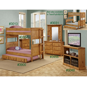 solid wood stackable bunk bed 3013pc