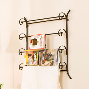 Scrolled Metal Magazine/Blanket Rack GA3997 (SEIFS)