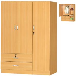 3-Door 2 Drawer Wardrobe HID2080(HOFS150)