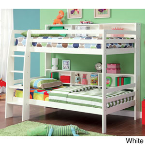 Modern Twin over Twin Bunk Bed IDF-BK613(OFS)