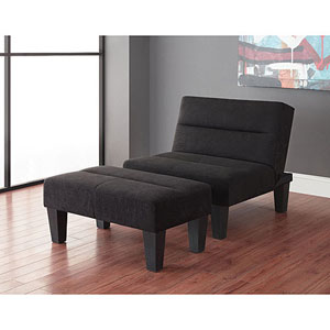 Kebo Chair And Ottoman In Black 21266195 Wfs
