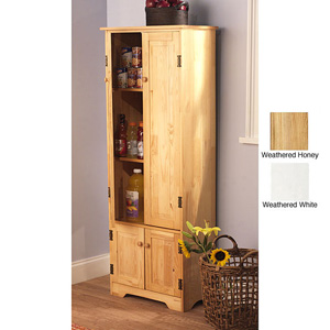 Beau Extra Tall Solid Pine Wood Storage Cabinet 11952129(OFS219)
