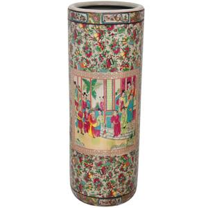 Porcelain 24-inch Rose Medallion Umbrella Stand 14257717(OFS