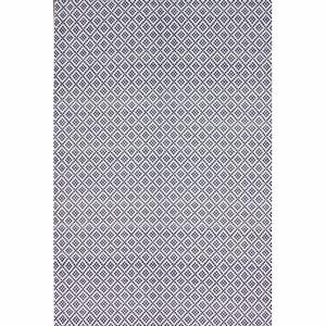 Handmade Flatweave Moroccan Trellis Navy Cotton Rug 14359496
