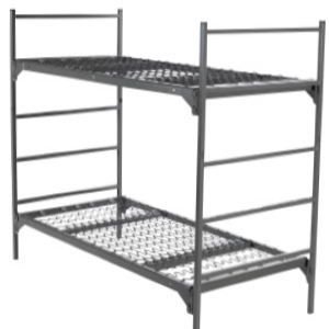 Military Style Metal Bunk Bed (400 Lbs Weight Capacity)