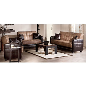Moda Mocha Living Room Set (SU)
