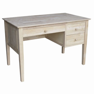 Parawood Writing Desk with 3 Drawer (WFFS)