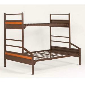 Institutional Bunk Bed Platinum Twin Full Bunk Bed 400 Lbs Weight