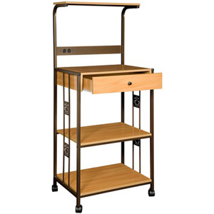 Microwave Cart with Wood Top R0018(HSFS)