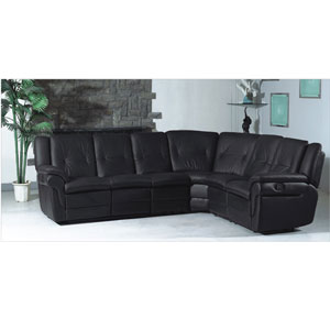Black Sectional/Recliner Sofa Set S322-B (PK)