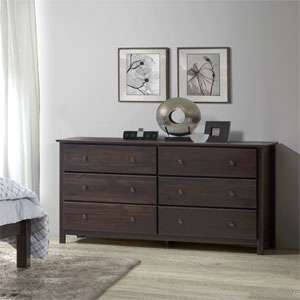 Solid Wood Shaker 6-drawer Dresser SH050211(OFS)