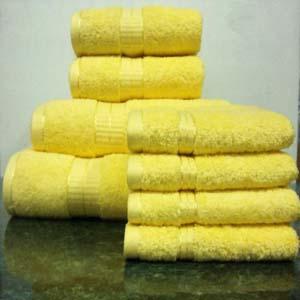 8PC. Set Yellow Egyptian Cotton Towels ed8pc (RPT)