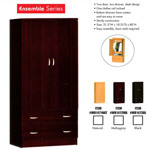 Two Drawer Wardrobe 9100(HO)
