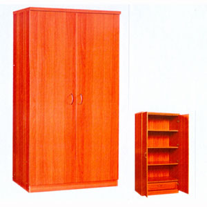 2 Door Wardrobe with Shelves WD-131(CR)