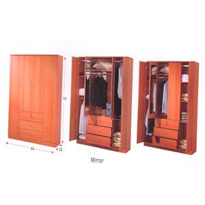 Wardrobe With Mirror WD-466_(ALA)