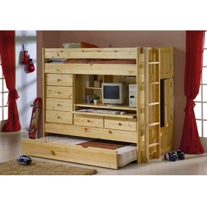 loft bed all in one solid pine wood loft inn. Black Bedroom Furniture Sets. Home Design Ideas
