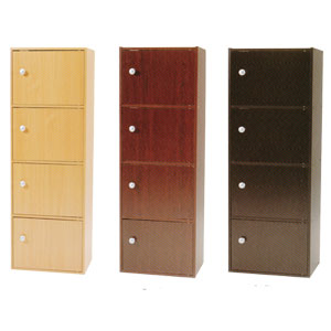 4-Shelf Bookcase With Doors 4218D_ (PJFS16)