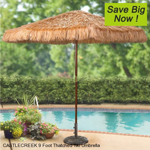 9 foot Thatched Tiki Umbrella B00BSR7836(AZFS)