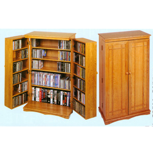 The Classic Mission CD/DVD Cabinet CD-612 (LE)(Free Shipping