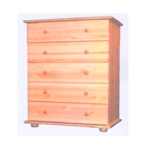Solid Wood 5-Drawer Chest CH-5D(AI)