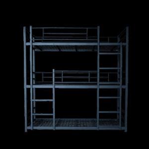 Institutional Bunk Bed Commercial Grade Triple Bunk Bed 900 Lp
