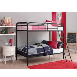 Twin Over Twin  Metal Bunk Bed 31351_(AZFS)