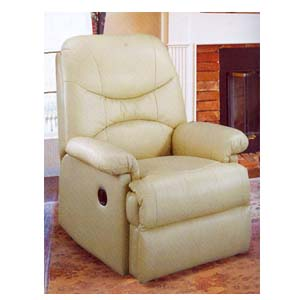 Ivory Leather Recliner F7730 (PX)