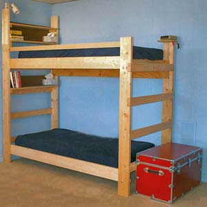 Heavy Duty Solid Wood Bunk Bed 1000 Lbs Wt Capacity