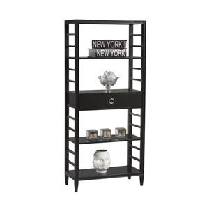 East End Avenue 4 Shelf Bookcase  77501BLK-AB-KD-U (LN)